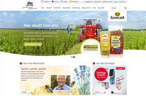 Die Website der dm-drogerie markt GmbH & Co. KG