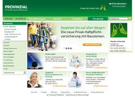 Die Website der Provinzial Geschäftsstelle