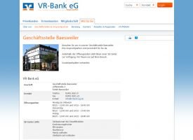 Die Website der VR-Bank