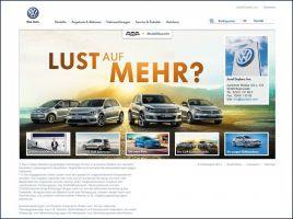 Die Website des Volkswagen Autohaus Duykers